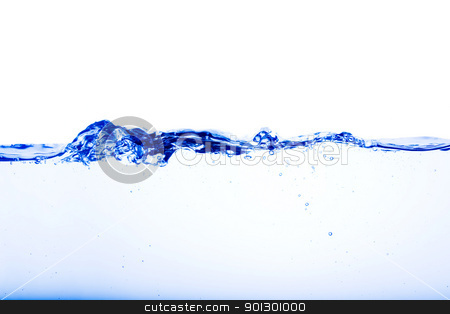 Water flow stock photo, Abstract water flow with ripples and bubbles by Tyler Olson