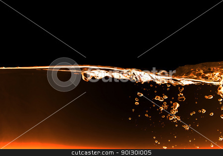Water abstract stock photo, A red fire water background abstract by Tyler Olson