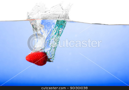 Fresh Strawberry Background stock photo, Fresh strawberries being poured in water by Tyler Olson
