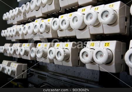 Electrical Breaker Detail stock photo, A detail of a european electrical breaker. by Tyler Olson