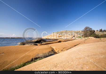 Southern Norwegian Landscape stock photo, A coastal landscape in the south east of Norway near Fredrikstad by Tyler Olson