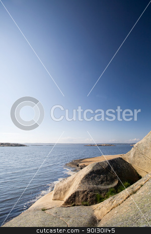 Rock and Ocean stock photo, A coastal landscape in the south east of Norway near Fredrikstad by Tyler Olson