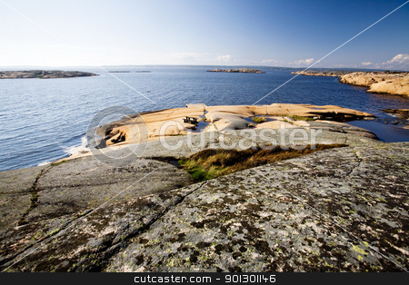 Norway Coast stock photo, A coastal landscape in the south east of Norway near Fredrikstad by Tyler Olson