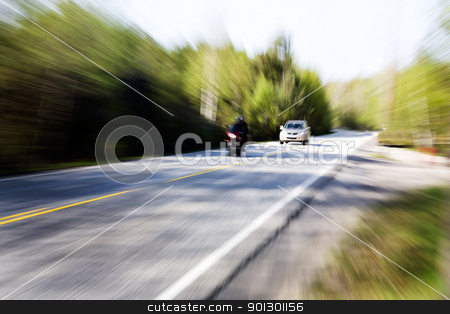 Speeding Car stock photo, A motion blur image of a speeding car by Tyler Olson