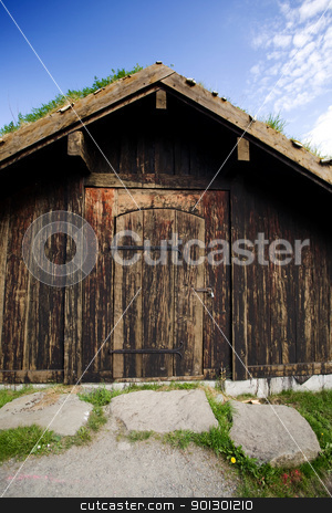 Historic Norwegian Building stock photo, An old historic norwegian building  by Tyler Olson