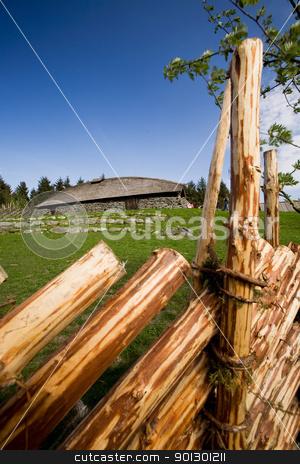 Viking Longhouse stock photo, A viking long house on a historic farm by Tyler Olson