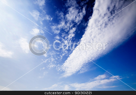 Cloud Background stock photo, Cloud background with deep blue and bright white by Tyler Olson
