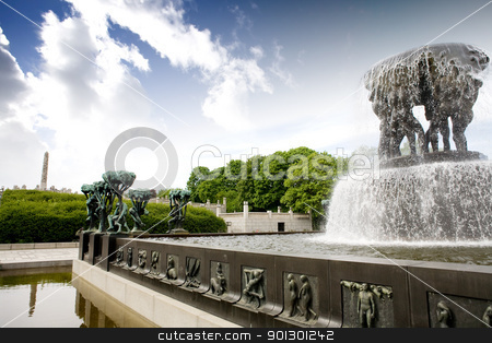 Vigeland Park stock photo, Vigelandparken in Oslo, Norway by Tyler Olson
