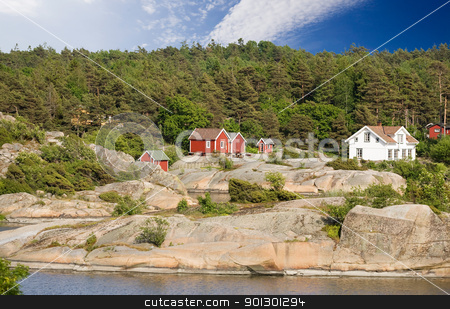 Norway House stock photo, A typical house on the coast of norway by Tyler Olson