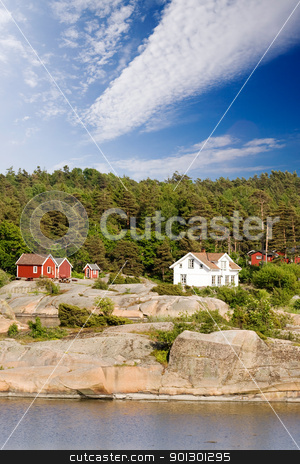 Norway stock photo, A typical house on the coast of norway by Tyler Olson