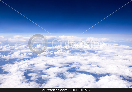 Aerial Cloudscape stock photo, A cloudscape taken from an airplane by Tyler Olson