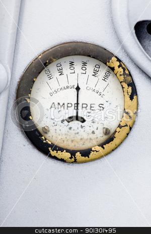 Retro Amp Gauge stock photo, A retro steampunk style amp gauge by Tyler Olson