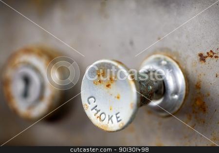Choke Knob stock photo, A steampunk style retro choke knob - shallow depth of field by Tyler Olson