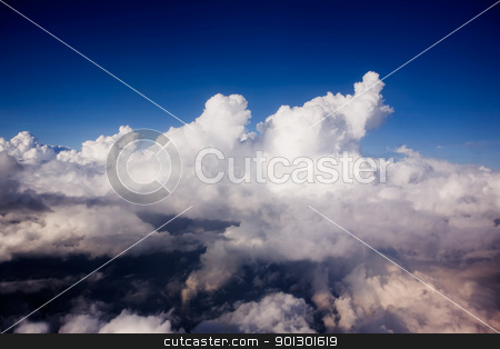 Cloudscape stock photo, A dramatic cloudscape from the sky by Tyler Olson