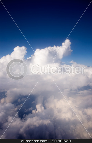 Clouds stock photo, A dramatic cloudscape from the sky by Tyler Olson