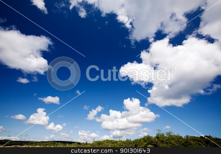Cloud Landscape stock photo, A cloud background landscape with large white clouds by Tyler Olson