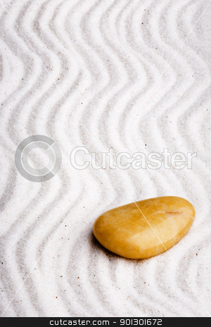 Japanese Rock Garden stock photo, Japanese zen rock garden with large depth of field. by Tyler Olson