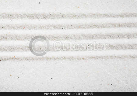 Sand Pattern stock photo, A pattern in white sand, background image by Tyler Olson