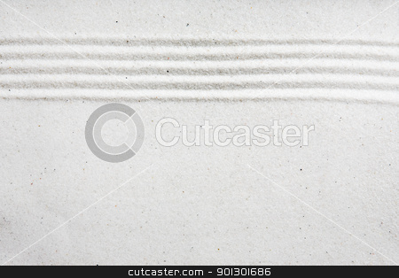 Sand Pattern Background stock photo, A background image with white sand and a raked stripe by Tyler Olson