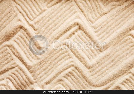 Zig Zag Sand stock photo, A zig zag background pattern in sand by Tyler Olson