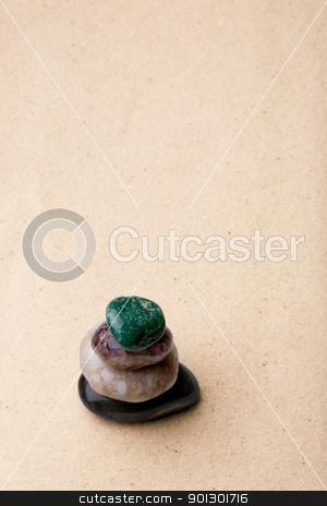 Rock Zen Garden stock photo, A tower of rocks in a very minimalist zen rock garden by Tyler Olson