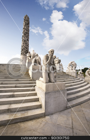 Statue Park Oslo stock photo, Oslo rock statue park in Norway by Tyler Olson