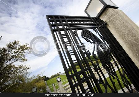 Iron Gate stock photo, An iron gate at Vigelandsparken, Oslo, Norway by Tyler Olson