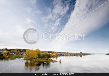Vikersund, Norway stock photo, The small town of Vikersund in Norway on Tyrifjord by Tyler Olson