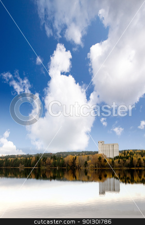 Fall Landscape Geithus stock photo, A fall landscape in Geithus, Norway by Tyler Olson