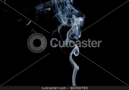 Smoke Background stock photo, A quiet stream of smoke rising by Tyler Olson