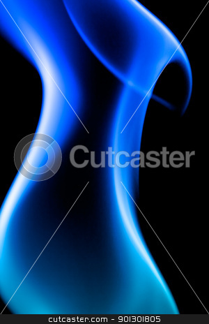 Blue Flame stock photo, A blue abstract background by Tyler Olson