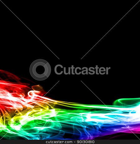 Horizontal Smoke Background stock photo, A flowing smoke background by Tyler Olson