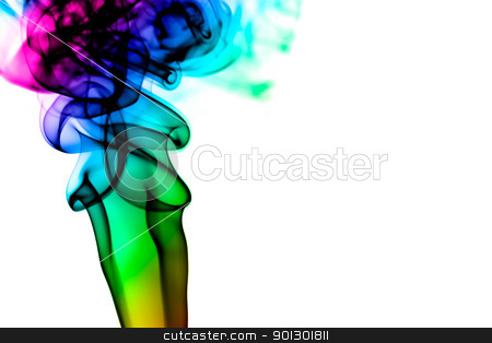 Colorful Smoke Background stock photo, A colorful smoke background on black by Tyler Olson