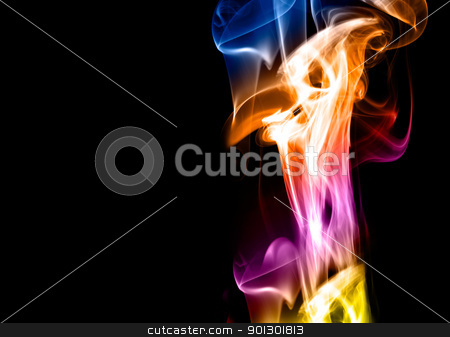 Colorful Abstract Background stock photo, A colorful smoke style background  by Tyler Olson
