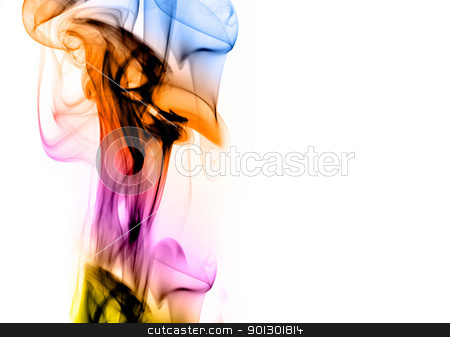 Colorful Abstract Background stock photo, A colorful smoke style background on white by Tyler Olson
