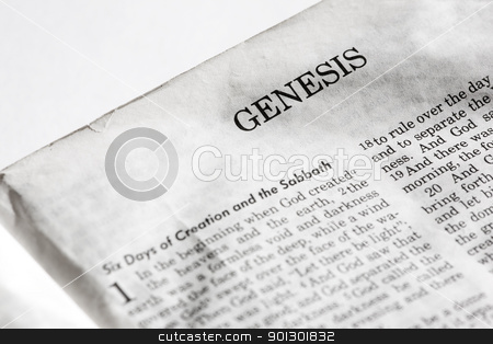 Genesis stock photo, The first book of the bible, Genesis by Tyler Olson