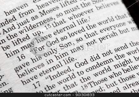 John 3:16 stock photo, John 3:16 in the Christian Bible, For God so loved the world... by Tyler Olson