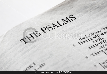 The Psalms stock photo, A macro detail of the book of psalms by Tyler Olson