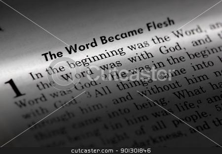 John 1:1 stock photo, John 1:1 - The word became flesh. Popular New Testament passage by Tyler Olson