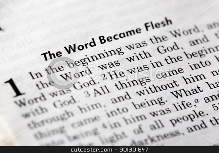 John 1:1 stock photo, John 1:1 - The word became flesh. Popular New Testament passage by Tyler Olson