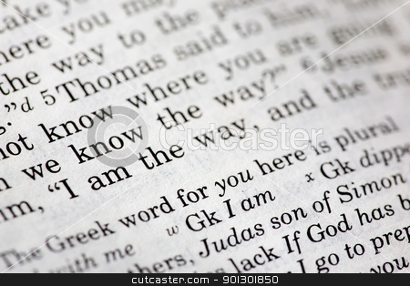 I am the Way stock photo, Popular New Testament passage John 14:6 - I am the way the truth and the light... by Tyler Olson