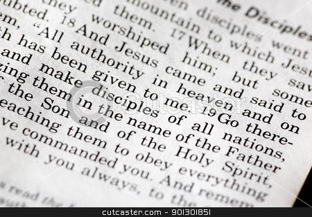 Mathew 28:19 stock photo, Mathew 28:19 - A popular passage in the Christian New Testament by Tyler Olson