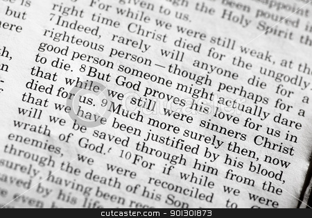 Romans 5:8 stock photo, Romans 5:8, a popular verse in the Christian New Testament by Tyler Olson
