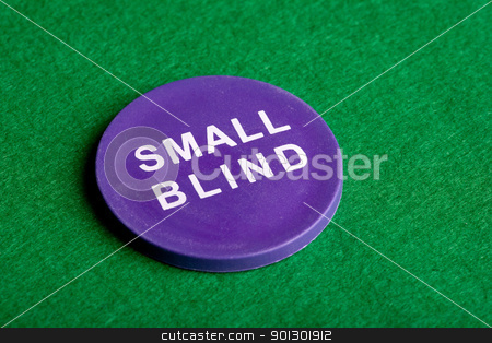 Small Blind stock photo, A small blind chip viewed from an angle by Tyler Olson