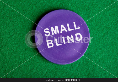 Small Blind stock photo, A small blind chip viewed from above by Tyler Olson