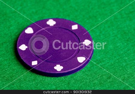 Purple Poker Chip stock photo, A $500 purple poker chip by Tyler Olson