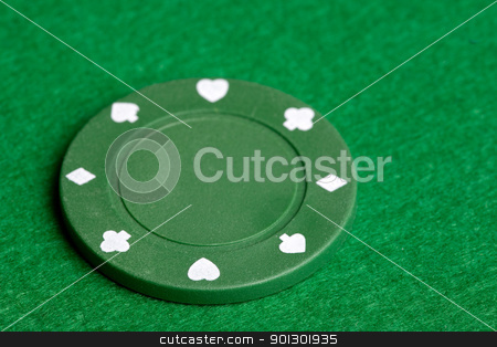 Green Poker Chip stock photo, A green $25 pocker chip by Tyler Olson
