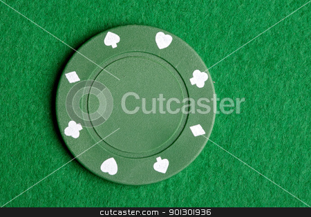 Green Poker Chip stock photo, A green $25 pocker chip by Tyler Olson