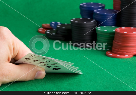 Straight Flush stock photo, A poker hand with a straight flush by Tyler Olson