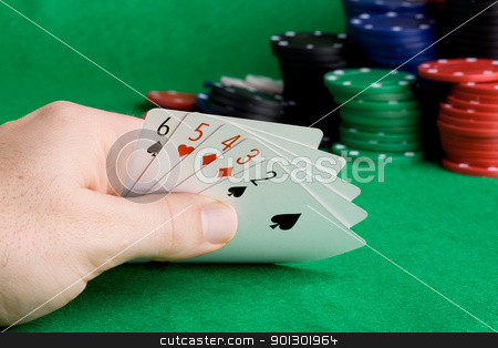 Straight stock photo, A poker hand which holds a straight by Tyler Olson